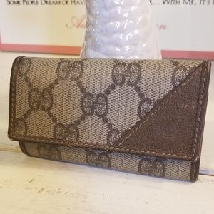 Vintage Gucci GG Supreme Monogram Canvas Key pouch